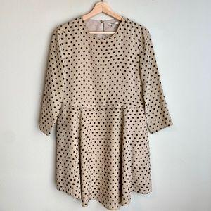 Madewell Polka Dot Silk Mini Dress